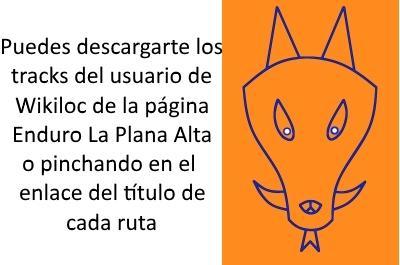 Enlace a Wikiloc Enduro La Plana Alta